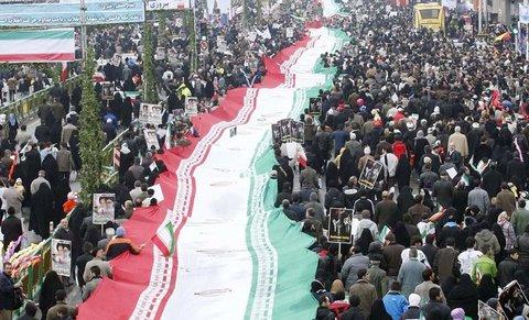 مسیر راهپیمایی ۲۲ بهمن در شهر وزوان
