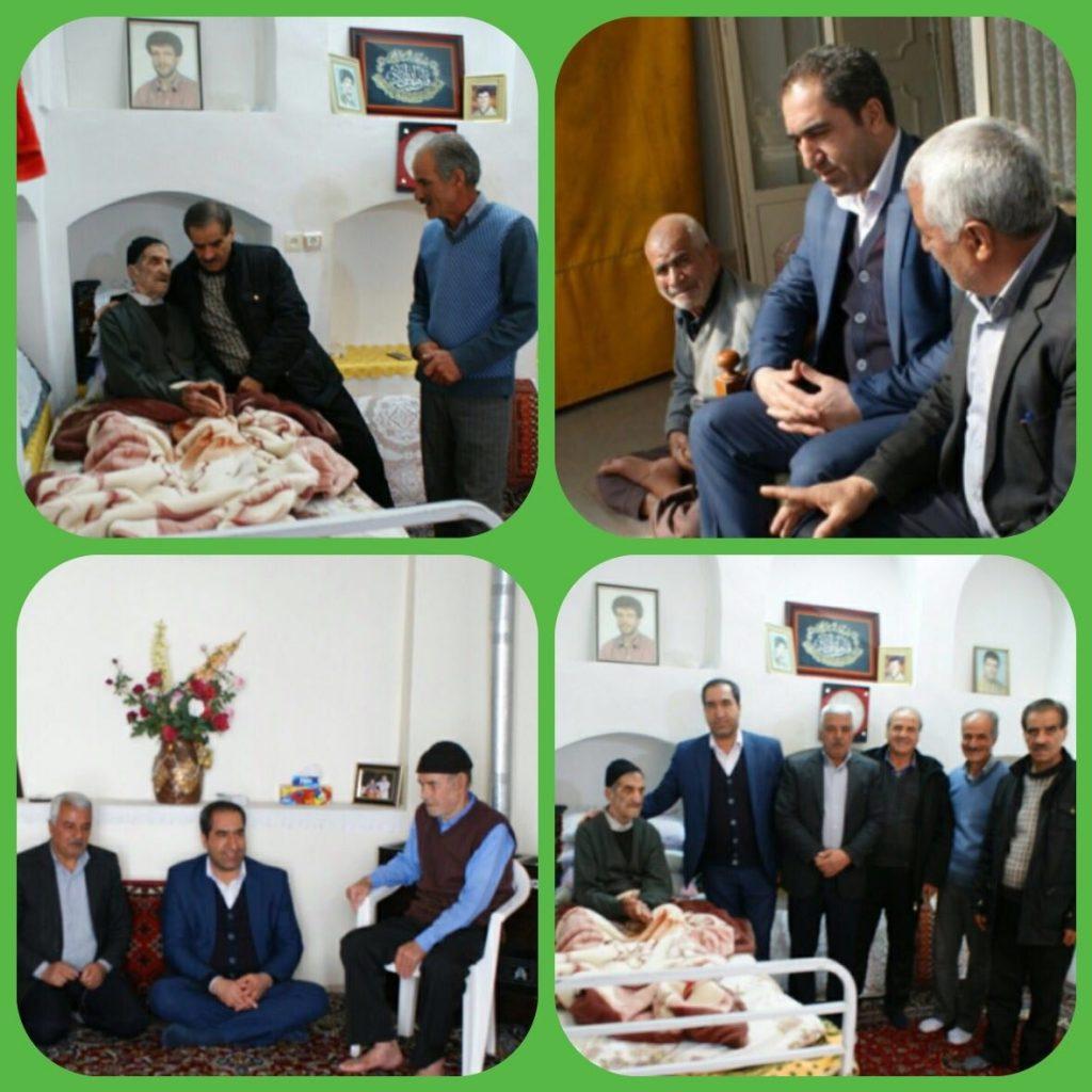 دیدار و عیادت صمیمانه شهردار و اعضای شورای اسلامی شهر از سالمندان شهر وزوان