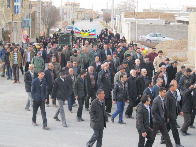 تصاویر :حضور حماسی مردم در راهپیمایی حماسی ۲۲ بهمن در ونداده