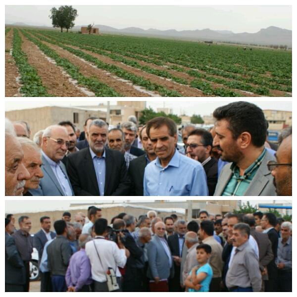 حضور وزیر محترم جهاد کشاورزی جناب آقای مهندس حجتی و همراهان در شهر وزوان