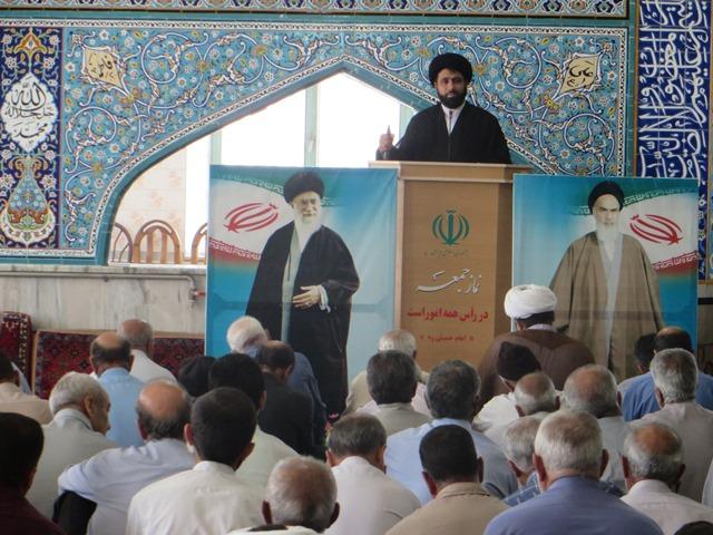 خطیب نماز جمعه میمه ۷تیر۹۸:  مقام معظم رهبری فرمودند:تحریم های آمریکا ظلمی بارز به ایران و ملت ایران است اما مردم ایران با قوت به مسیر خود ادامه خواهند داد