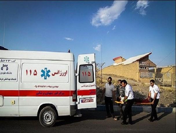تصادف ۲۰۶ و سمند ۱۱ مصدوم در محورشاهین شهربه وزوان