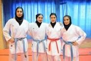 درخشش بانوان رزمی کار وزوان درمسابقات کاراته قهرمانی کشور