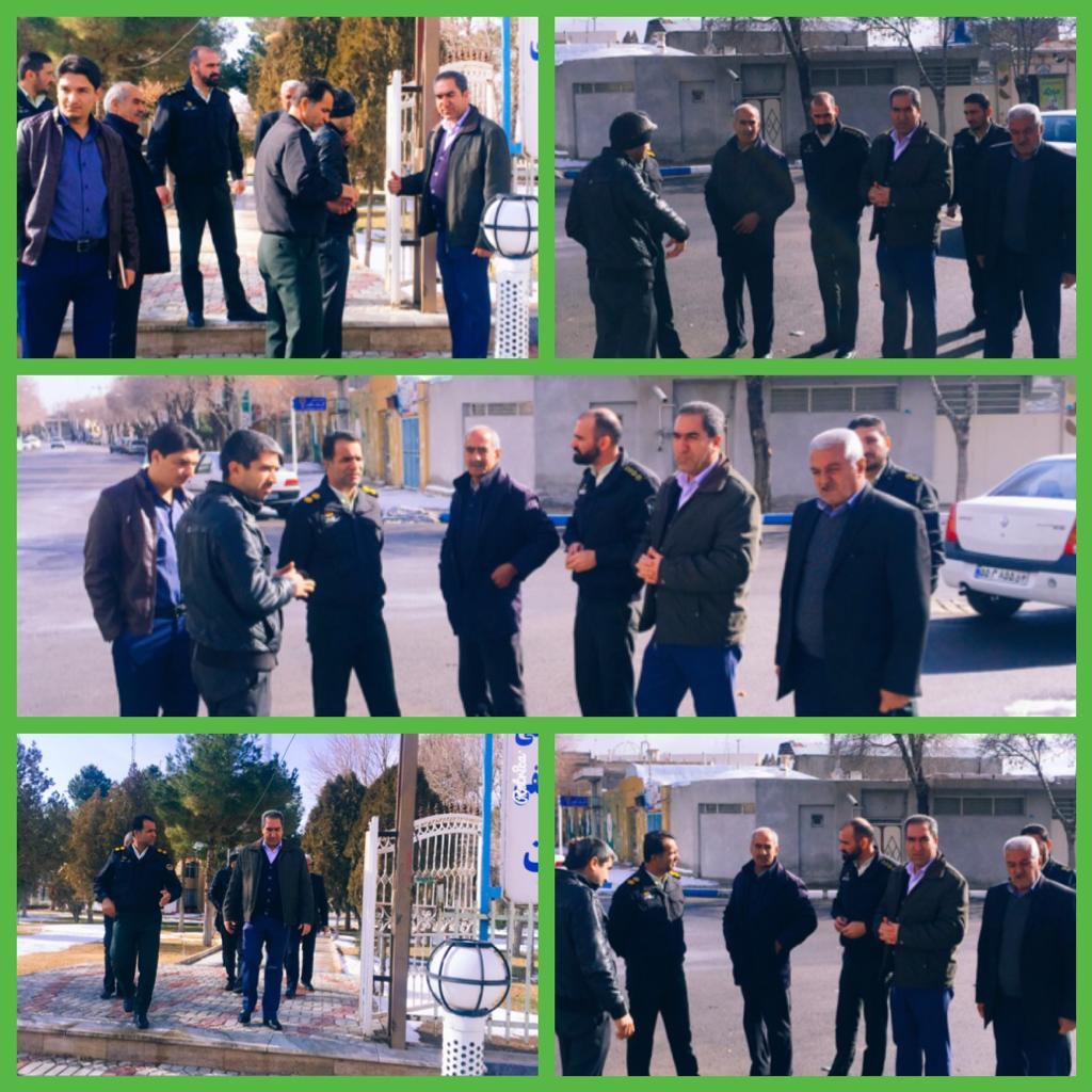 جانمایی محل استقرار کانکس نیروی انتظامی در ضلع شمال شرقی شهرداری وزوان