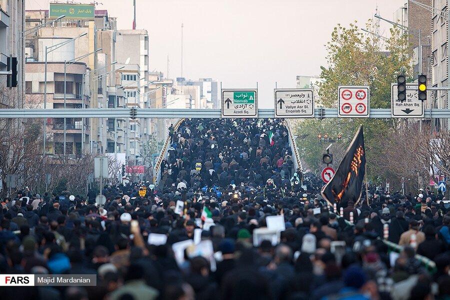 وداع میلیونی تهران با سردار عشق و حماسه | رستاخیز تهران برای سردار دلها