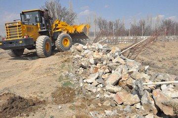 رفع تصرف ۷۰۰۰ مترمربع از اراضی ملی شهر وزوان واقع در استان اصفهان