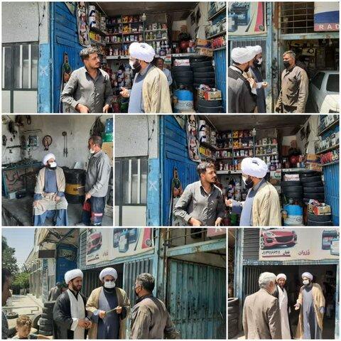 حرکت زیبای امام جمعه وزوان/ بازدید سرزده از اصناف شهر